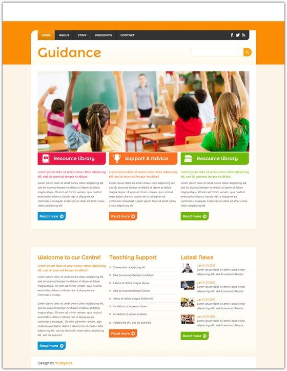 Guidance a Education Mobile Website Template