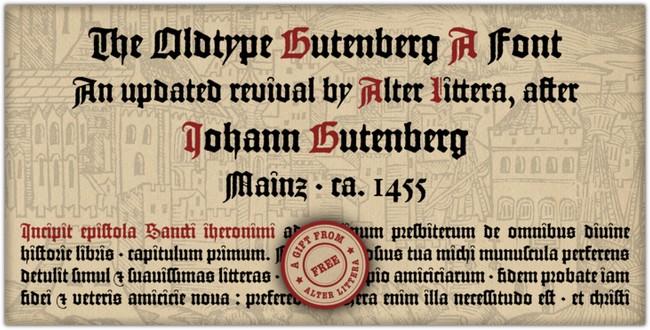 Gutenberg-A Font