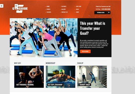 Gym Guide Fitness Sport WordPress Theme