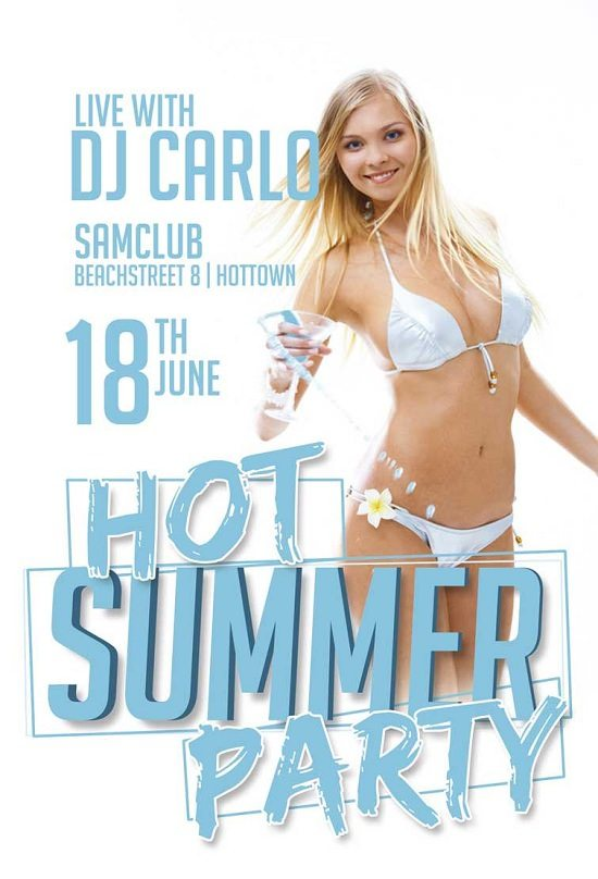 HOT SUMMER PARTY FLYER TEMPLATE