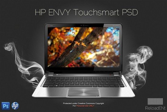 HP ENVY Touchsmart Template PSD