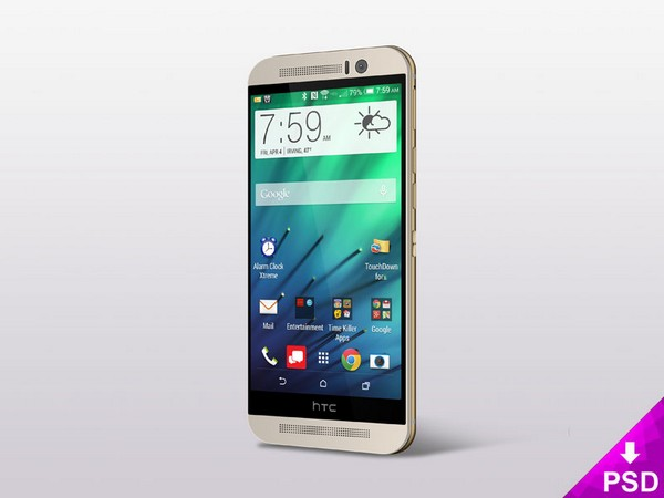 HTC One (M8) PSD Mockup