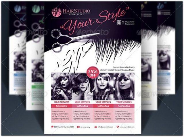 Hair Salon Flyer # 2
