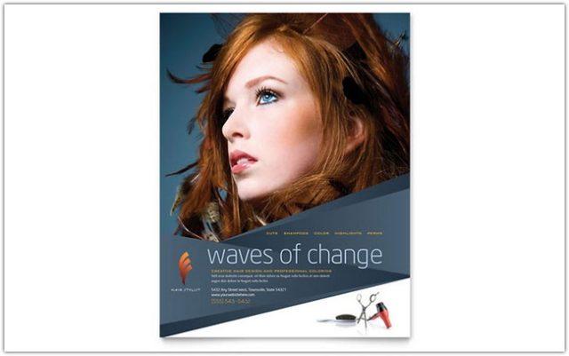 Hair Stylist & Salon Flyer Template