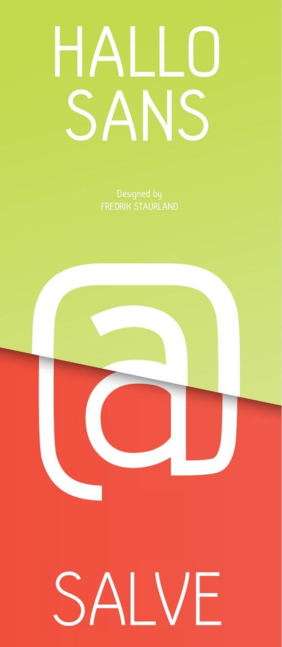 Hallo Sans, Free typeface