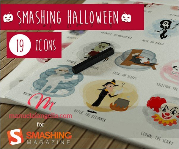 Halloween Icon Set (19 Icons, AI, EPS, PDF, SVG, PNG)