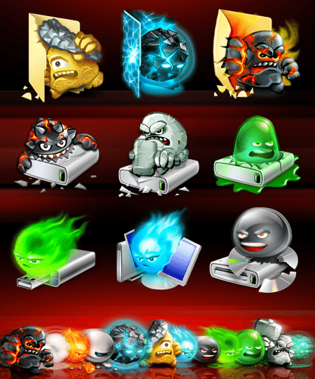 Halloween Icon Set uAntivirus