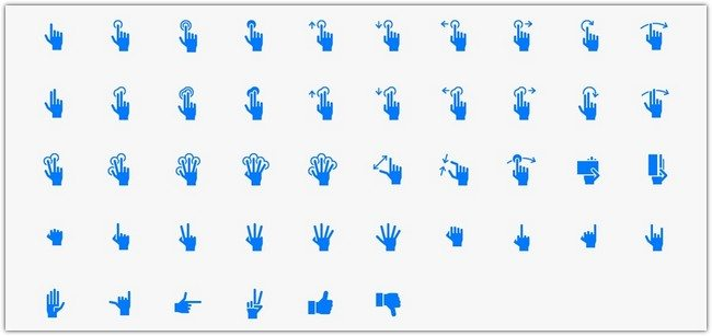Hand Gestures iOS Tab Bar Icons