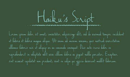 Handwriting – Haiku's Script Font