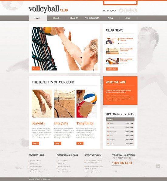 Happy Volleyball WordPress Theme