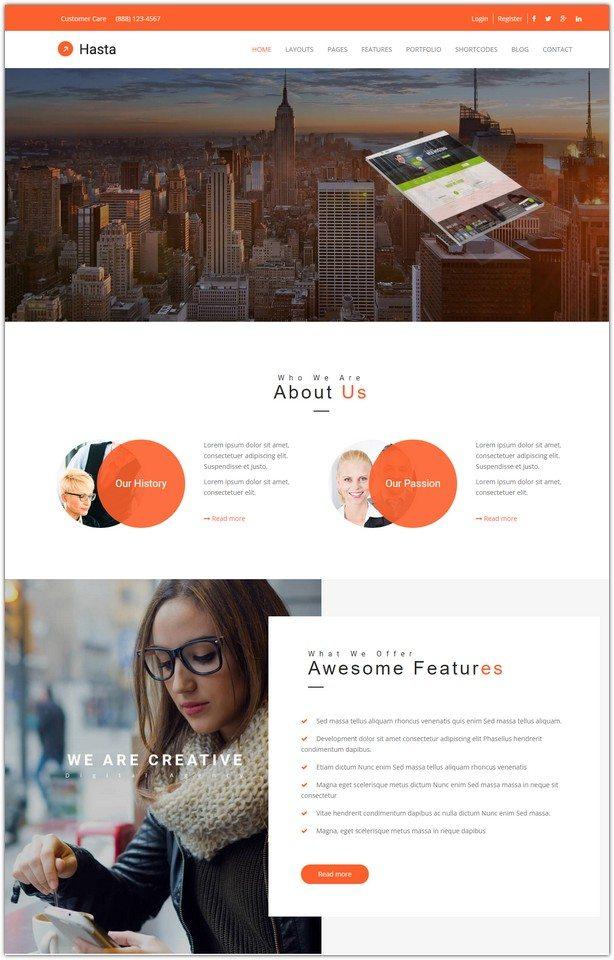 Hasta - Responsive Multi-Purpose HTML5 Template