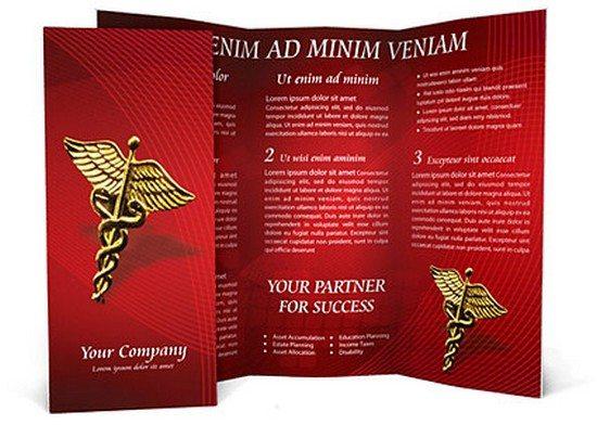Heart Model Brochure Template