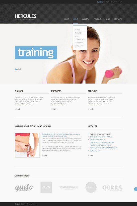 Hercules Fitness WordPress Theme