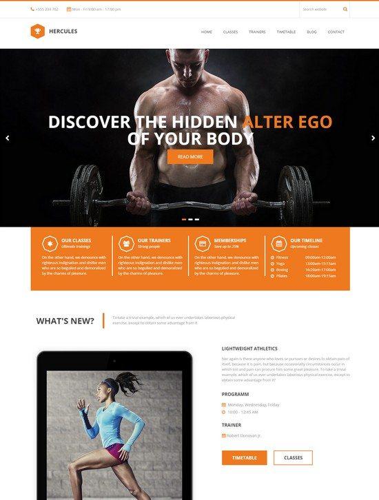 Hercules Gym Fitness WordPress Theme
