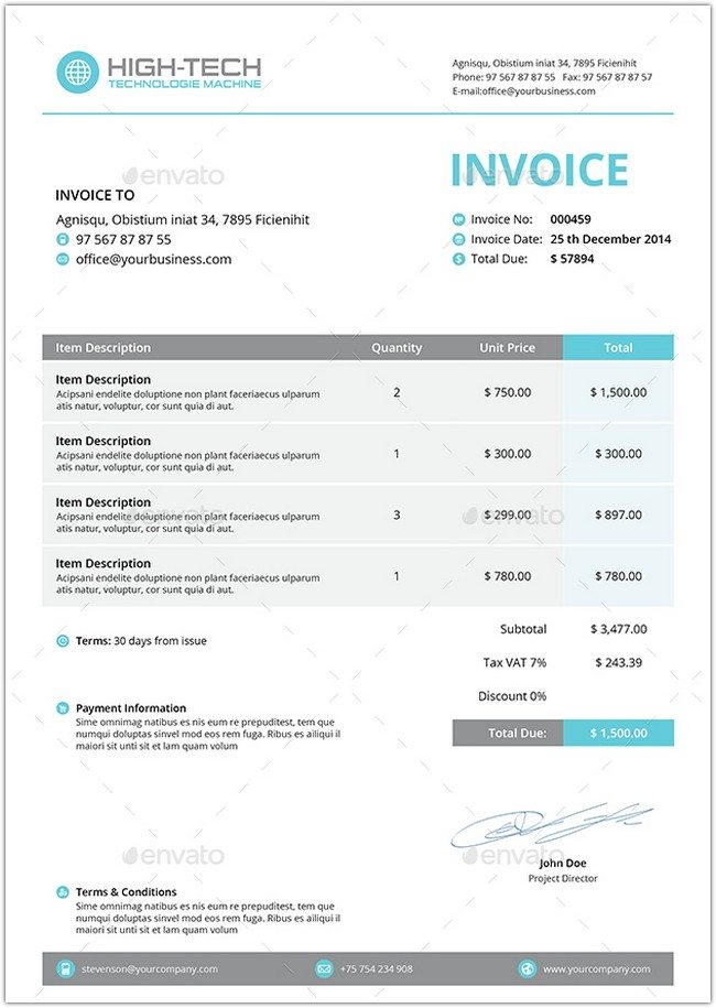 High Tech Invoice