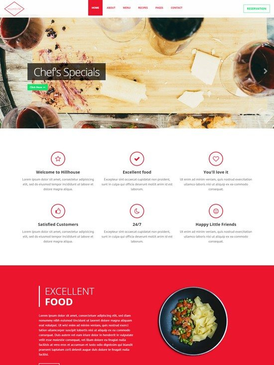 Hillhouse - Cafe Restaurant Template