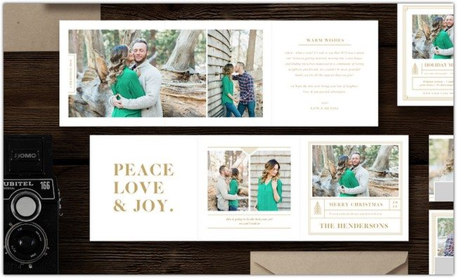 Holiday Card Trifold Templates