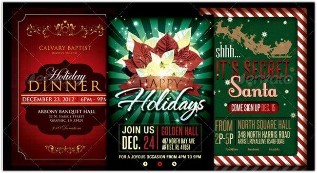 Holiday Flyer Template Bundle
