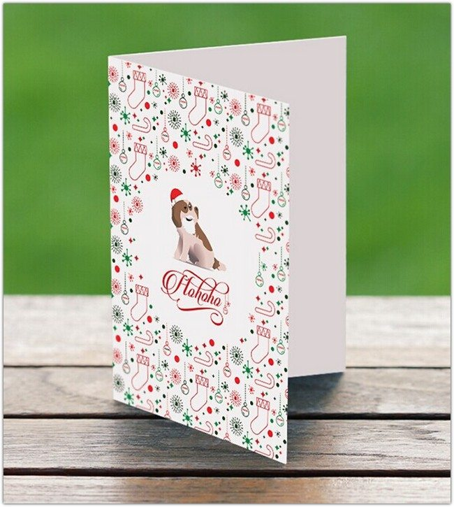 Holiday Greeting Card Template PSD