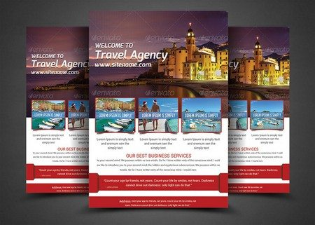 Holiday Travel Flyer Print Templates