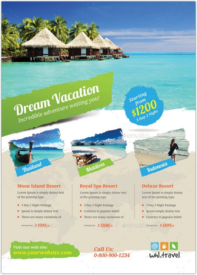 Holiday Travel & Vacation Flyer