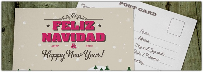 Holidays Postcard Template