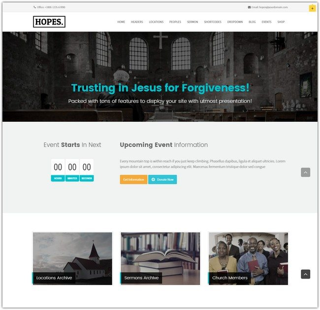 Hopes – Church & Multi-Purpose WordPress Theme