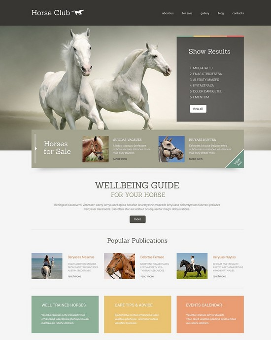 Horse Responsive WordPress Theme monster