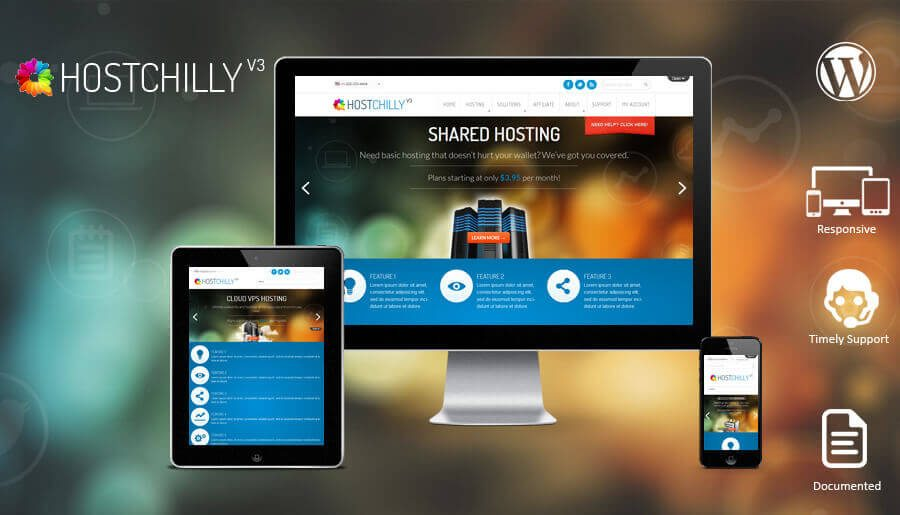 HostChilly V3 WordPress Theme