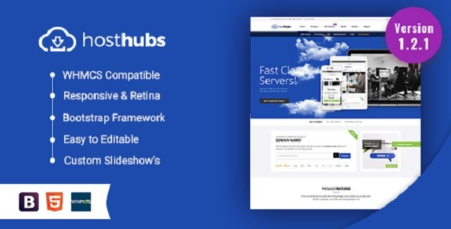 HostHubs Responsive WHMCS Web Hosting Template