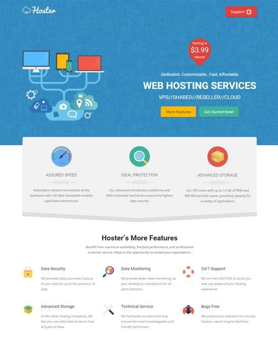 Hoster Hosting Service HTML Template