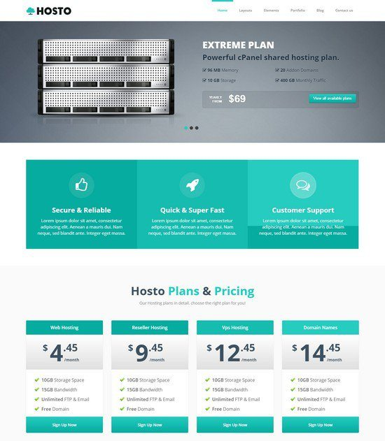 Hosting HTML Website Template