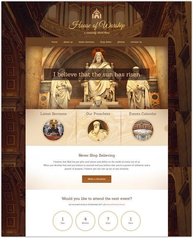 House Of Worship – Church WordPress Theme