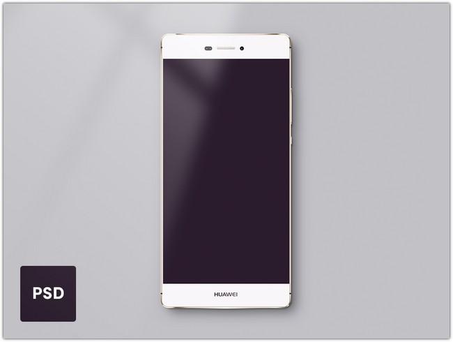 Huawei P8 Lite Template – PSD freebie