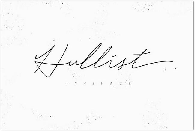 Hullist Script Font