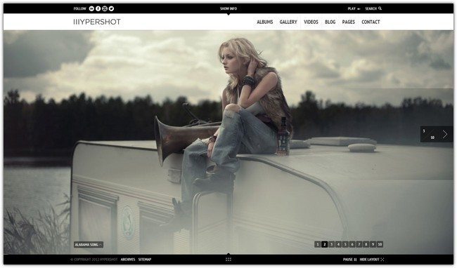 Full Screen WordPress Theme