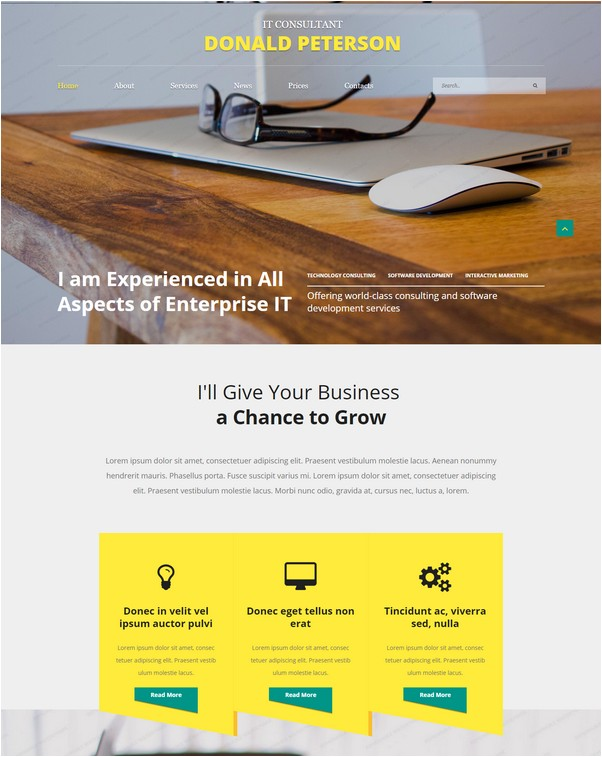IT Guru Website Template