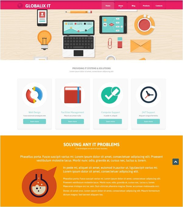 IT Support Company Website Template