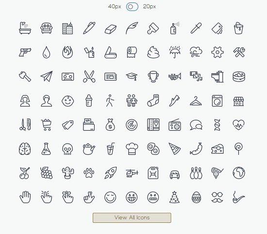 IcoMoon's Free icon pack