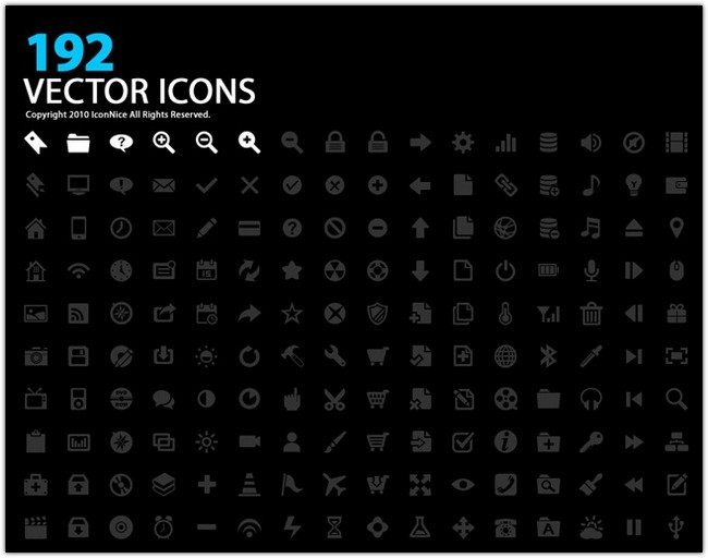 Icons(192 Vector Icons)