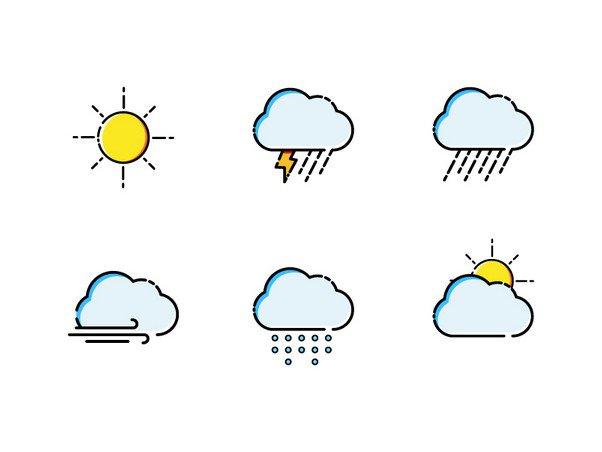 Illustrated Weather Icon Set