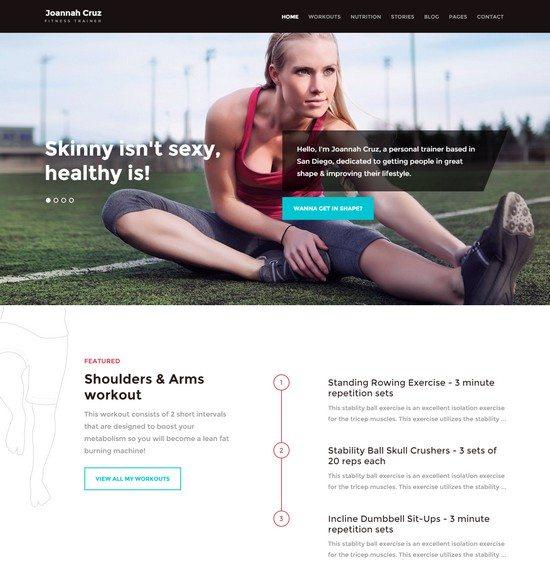 In Shape - Fitness WordPress Theme