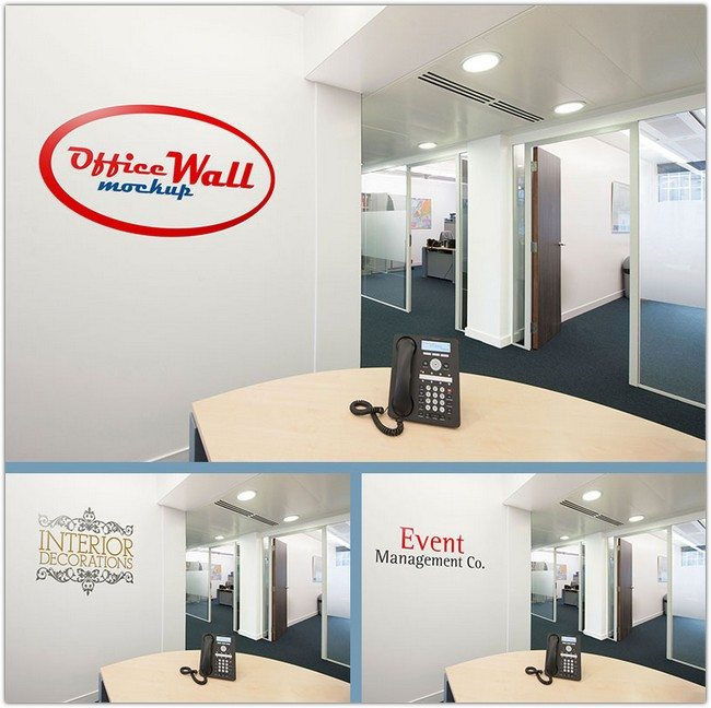 Indoor & Outdoor Wall Sign PSD template