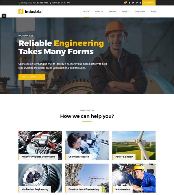 Industrial - Industry & Factory WordPress Theme