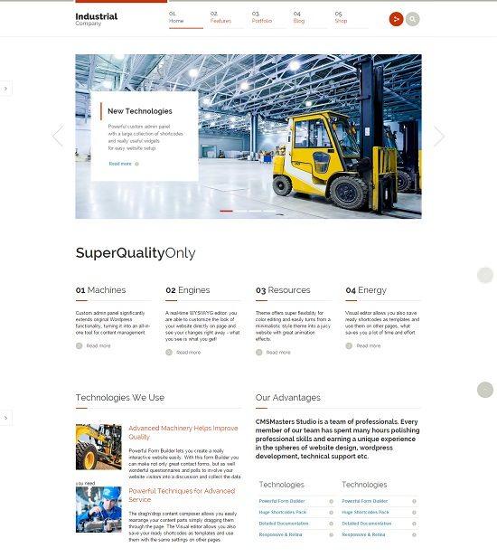 Industrial - Multi-Purpose Responsive WP Theme