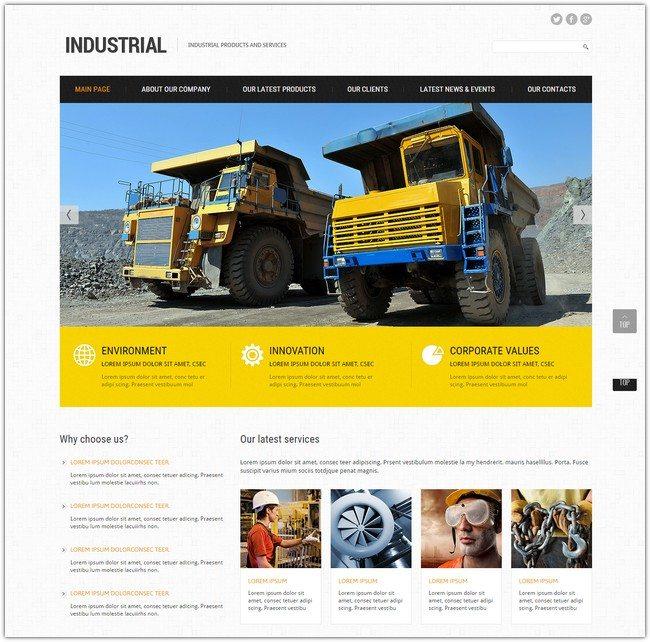 Industrial Responsive Joomla Template