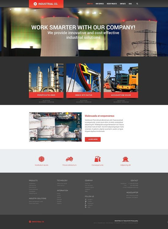Industrial for Evolution WordPress Theme