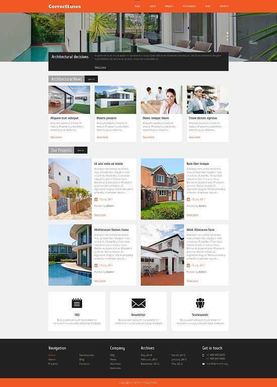 Ingenious Architecture WordPress Theme