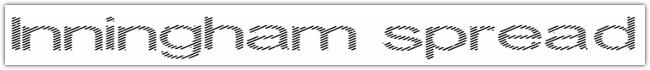 Inningham spread font