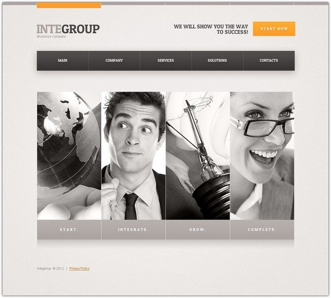 Integroup Advertising Agency Website Template